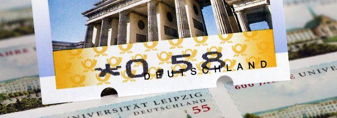 Briefmarken mit neuen Standardbeträgen gibt es ab Dezember.