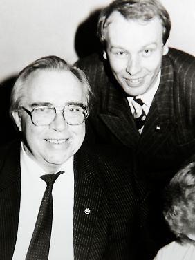Helmut Klopfleisch (r.) mit dem ehemaligen Hertha-Präsidenten Wolfgang Holst, Ende der 70er Jahre.