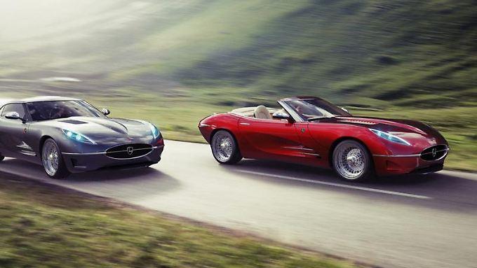 Der Lyonheart K im Stil des legendären Jaguar E-Type ist als Coupé und Cabrio erhältlich.