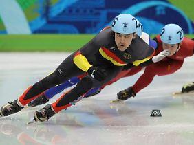 Noch im Rennen: Der Deutsche Tyson Heung steht im 500-Meter-Viertelfinale.