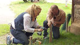 Zwist am Zaun: Anja und Jürgen