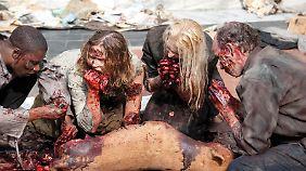 Die Zombies können sich sehen lassen.
