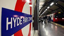 U-Bahn-Station «Hyde Park Corner» in London: Teile der Tube stammen noch aus dem 19. Jahrhundert - jetzt sind Bauarbeiten notwendig. Foto: Soeren Stache