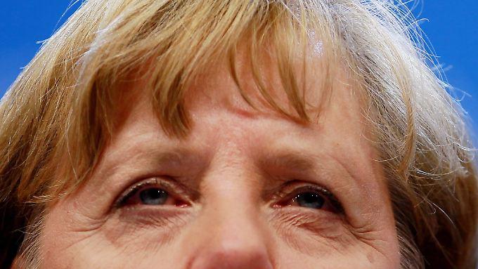 Merkel in der Nacht am Ende des ersten Gipfeltages.