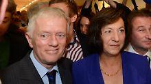 Kuhn mit  mit seiner Frau Waltraud Ulshoefer.