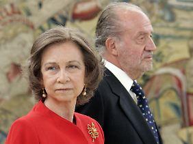 Königin Sofía und ihr Gatte Juan Carlos.