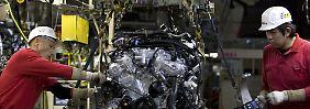 Motorenproduktion bei Nissan.