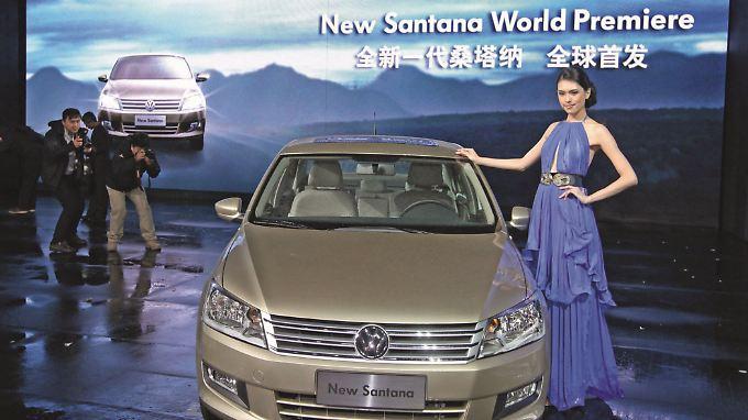 In China kostet der Santana knapp 8000 Euro und gilt als eines der beliebtesten Autos.