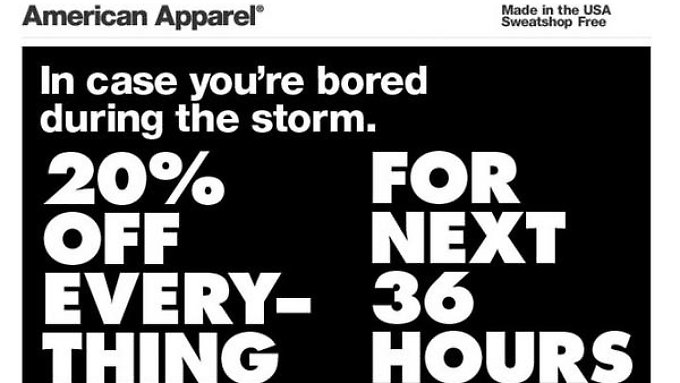 Stein des Anstoßes: das Angebot der Bekleidungsfirma American Apparel.
