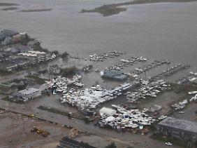 Überschwemmung in Brigantine, New Jersey.