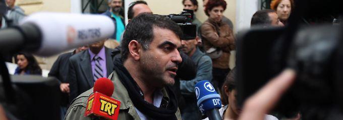Ein Fall von internationalem Interesse: Kostas Vaxevanis kurz vor Prozessbeginn.