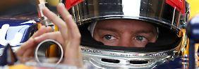 Sebastian Vettel genügten wenige Runde für eine Topzeit. Er scheint gerüstet fürs Qualifying - wenn die Bremsen halten.