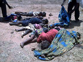 Unter den Opfern sind viele Frauen und Kinder.
