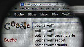 Teilsieg für Ex-First-Lady: Google löscht Wulff-Einträge