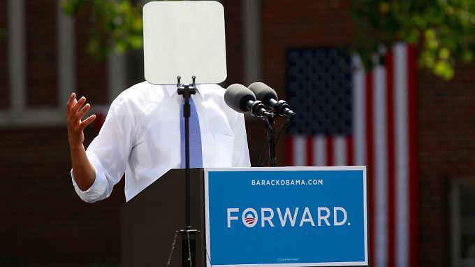 Barack Obama bei einer Rede im umkämpften Bundesstaat Ohio.
