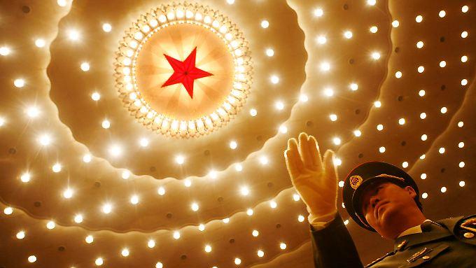 In der Großen Halle des Volkes in Peking.