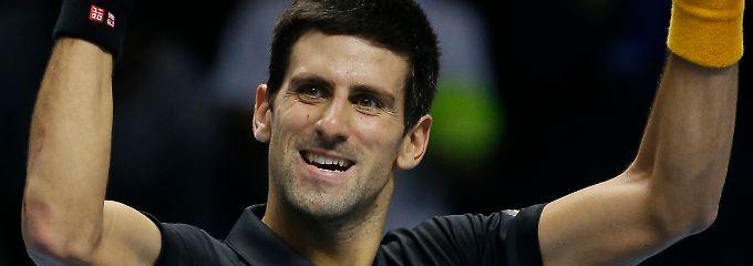 """""""Wir genießen die Atmosphäre hier, diese Halle ist unglaublich"""":  Novak Djokovic."""