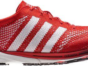 """Und um ihn hier dreht sich der Streit: Adidas präsentierte den Laufschuh """"adizero"""" bei den Olympischen Spielen in London."""