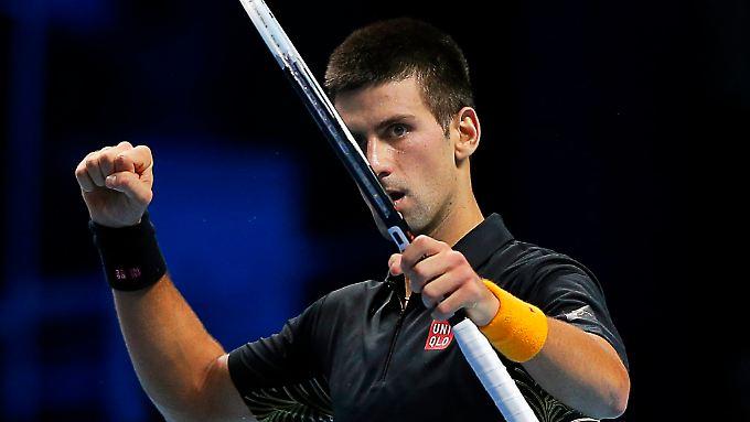 Novak Djokovic steigerte sich nach seinem Fehlstart, musste aber bis zum Schluss zittern um den Sieg.