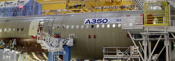 Großraumflieger als Umsatzhoffnung: Der Rumpf einer A350 XWB im französischen Toulouse.