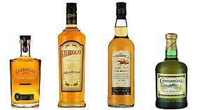 Cooley-Marken: Tyrconnell ist nach einem Rennpferd benannt, Connemara der einzige getorfte irische Whisky.
