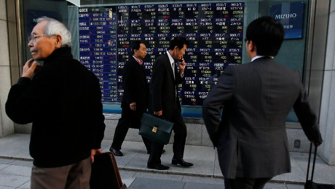Der Nikkei schließt im Minus.