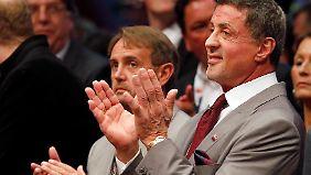 Begeisterter Zuschauer: Sylvester Stallone.