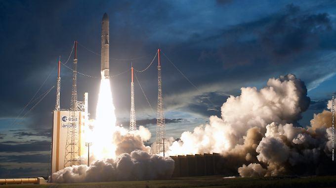 Der 52. Erfolg in Folge: Die Ariane-Trägerrakete startet vom Weltraumbahnhof  Kourou in Französisch-Guyana.
