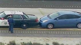 Die Bilder vom Toyota Prius, der nur per Karambolage durch die Polizei zu stoppen war, gingen um die Welt.