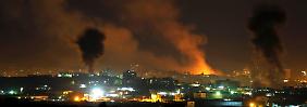 Israel greift Gaza aus der Luft an.