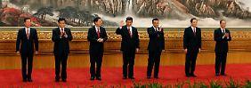 Der neue Ständige Ausschuss des Politbüros der KP China.