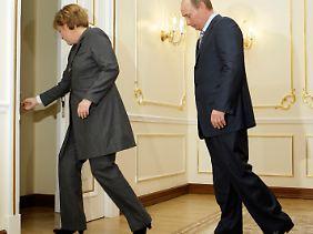 Putin und Merkel haben viel miteinander zu bereden.