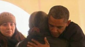 """Besuch in zerstörter Region: Obama verspricht """"Sandy""""-Opfern Hilfe"""