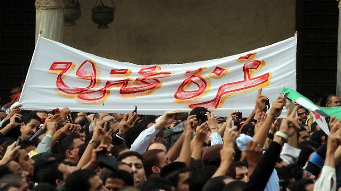 Protest in Kairo gegen die israelischen Angriffe auf Gaza. Ägyptens Regierung muss neuerdings auf die öffentliche Meinung im Land Rücksicht nehmen.