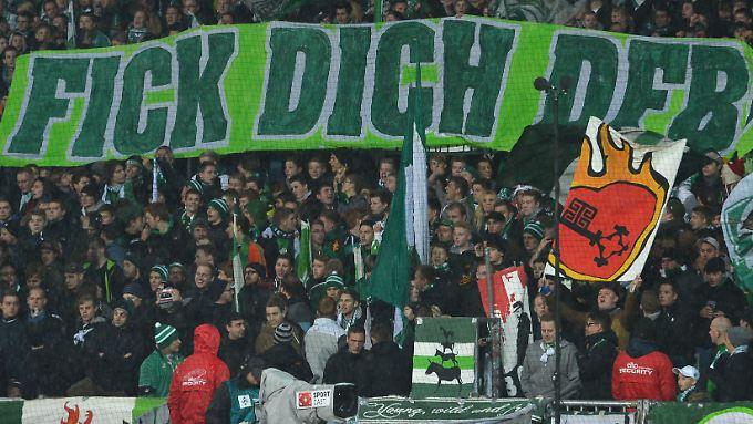 Friedlich, aber unhöflich: Fans des SV Werder Bemen.
