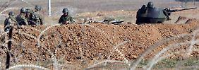 Türkische Soldaten an der Grenze zu Syrien.