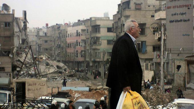 Zerstörungen in Harasta nahe Damaskus.