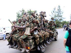 Kongolesische Rebellen in Goma.