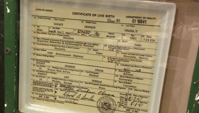 Barack Hussein Obama II, geboren am 4. August 1961 um 19.24 Uhr in Honolulu im US-Bundesstaat Hawaii.