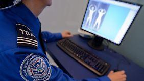 In den USA sind die Körperscanner schon lange im Einsatz.