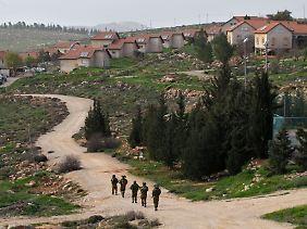 Israelische Siedlung bei Hebron im Westjordanland.