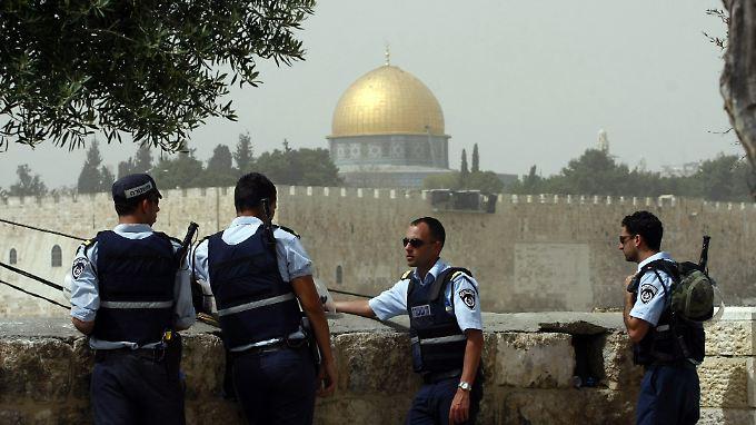 Israelische Polizisten in Ost-Jerusalem.
