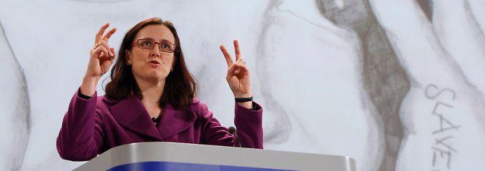 Cecilia Malmström, auf den Spuren von Ursula von der Leyen.