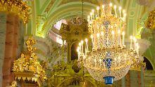 Prunk und Pracht regieren im Inneren der Peter-und-Paul-Kathedrale.
