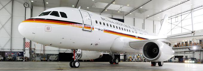 Die Luftwaffe übernimmt den ersten von zwei neuen Airbus A319, der 44 Passagieren Platz bietet.