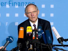 Schäuble will die Risiken diesmal minimieren.