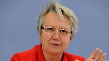 Bildungsministerin Annette Schavan ist zufrieden.