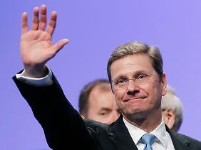"""""""Nicht nur den Parteivorsitzenden wahrnehmen"""": Westerwelle hat die FDP durch seine persönliche Rede aber für sich gewonnen."""