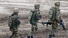 Nur noch sechs Montage Wehrdienst erwartet die Rekruten.
