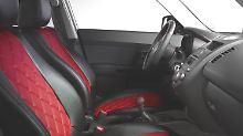 Typisch für die exklusive Innenausstattung beispielsweise die hochwertig gestalteten Ledersitze der Sonderedition.